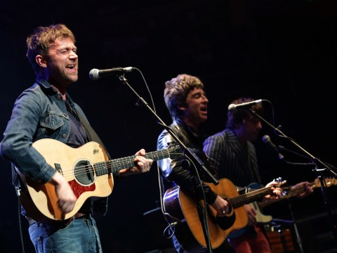 Noel Gallagher and Damon Albarn perform together at Royal Albert Hall