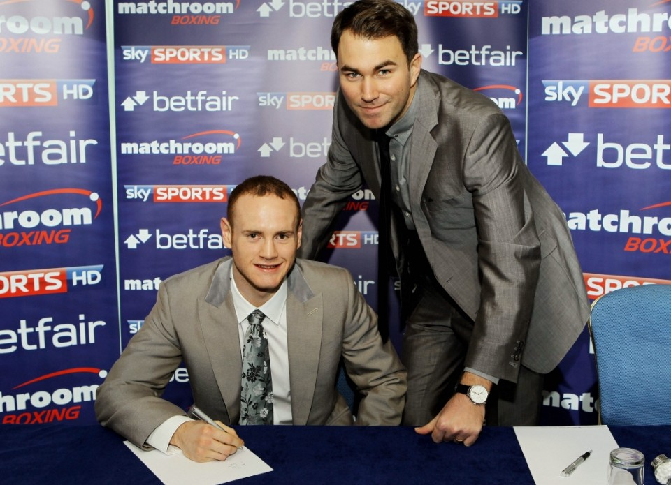New start: Groves signs with Hearn today (Picture: Action Images)