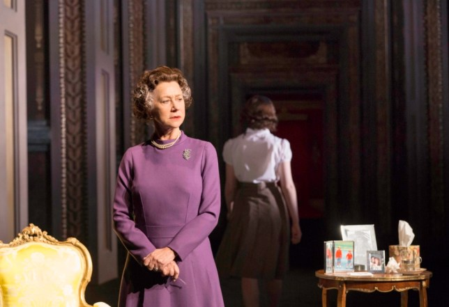 Helen Mirren's Queen Elizabeth stands alone in Peter Morgan's The Audience (Picture: Johan Persson)
