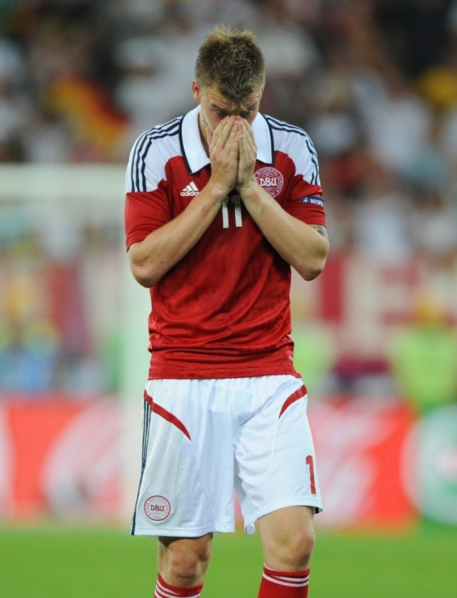 Nicklas Bendtner has been banned from international football for six months (Picture: Reuters/Action Images)