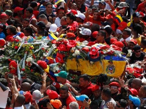 Gallery: Hugo Chavez funeral cortege 2013