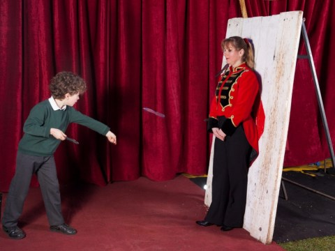 Meet Britain's youngest knife-thrower, who wants to upgrade to axes