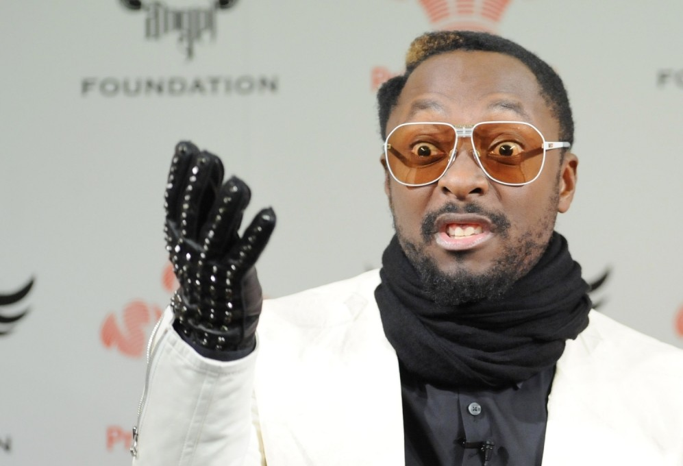 Will.i.am reacts to a question at Science Museum.