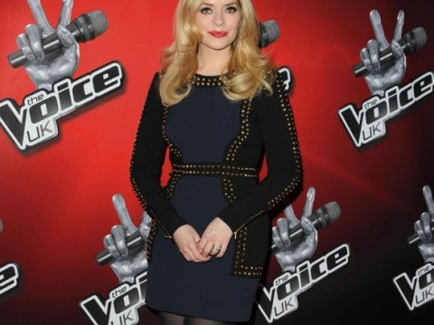 Holly Willoughby covers up as Jessie J bares all at The Voice UK launch