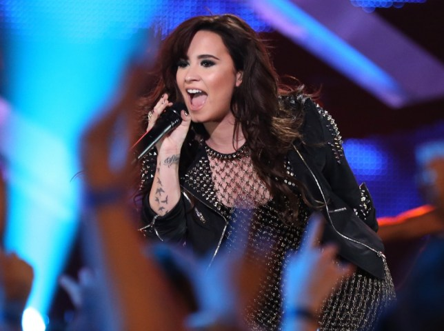 Hot air? Demi Lovato has had a cheeky pop at Simon Cowell about his grooming regime (Photo: Christopher Polk/Getty Images)