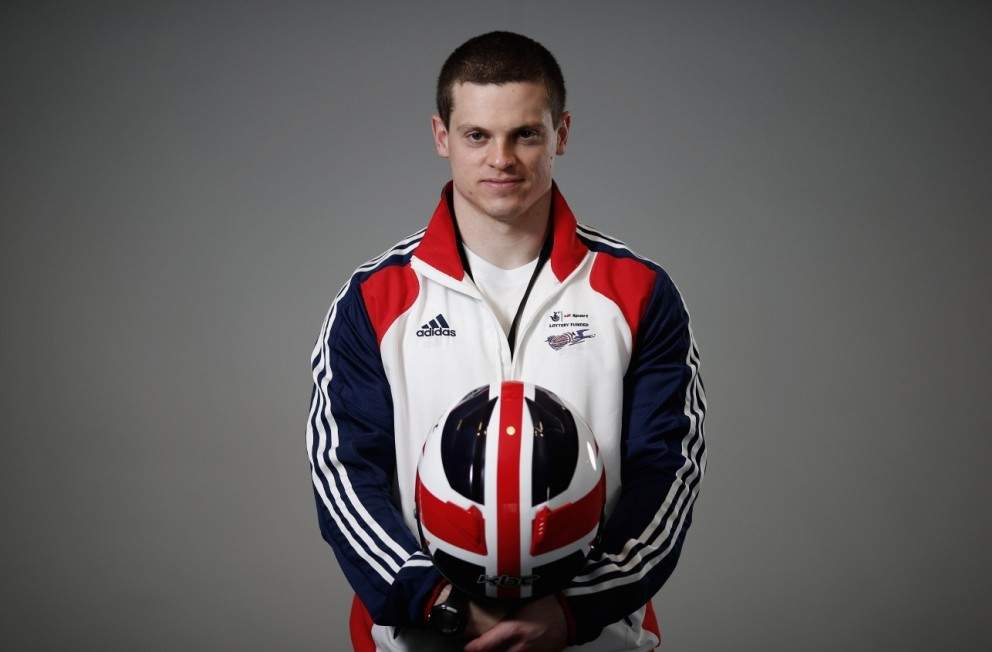 LONDON, ENGLAND - MARCH 14:  Craig Pickering of Great Britain poses for a picture during the GB Bobsleigh End of Season Media day at Wembley Stadium on March 14, 2013 in London, England.  (Photo by Tom Shaw/Getty Images)