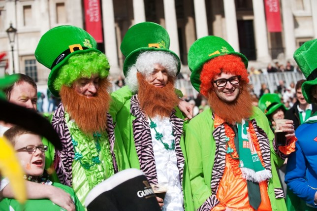 Don't forget your hat: St Patrick's Day Parade in Trafalgar Square