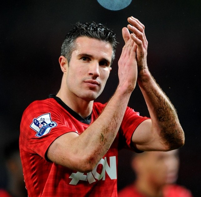 Manchester United's Robin van Persie applauds the fans after the final whistle during the Barclays Premier League match at Old Trafford, Manchester. PRESS ASSOCIATION Photo. Picture date: Saturday March 16, 2013. See PA story SOCCER Man Utd. Photo credit should read: Martin Rickett/PA Wire. RESTRICTIONS: Editorial use only. Maximum 45 images during a match. No video emulation or promotion as 'live'. No use in games, competitions, merchandise, betting or single club/player services. No use with unofficial audio, video, data, fixtures or club/league logos.