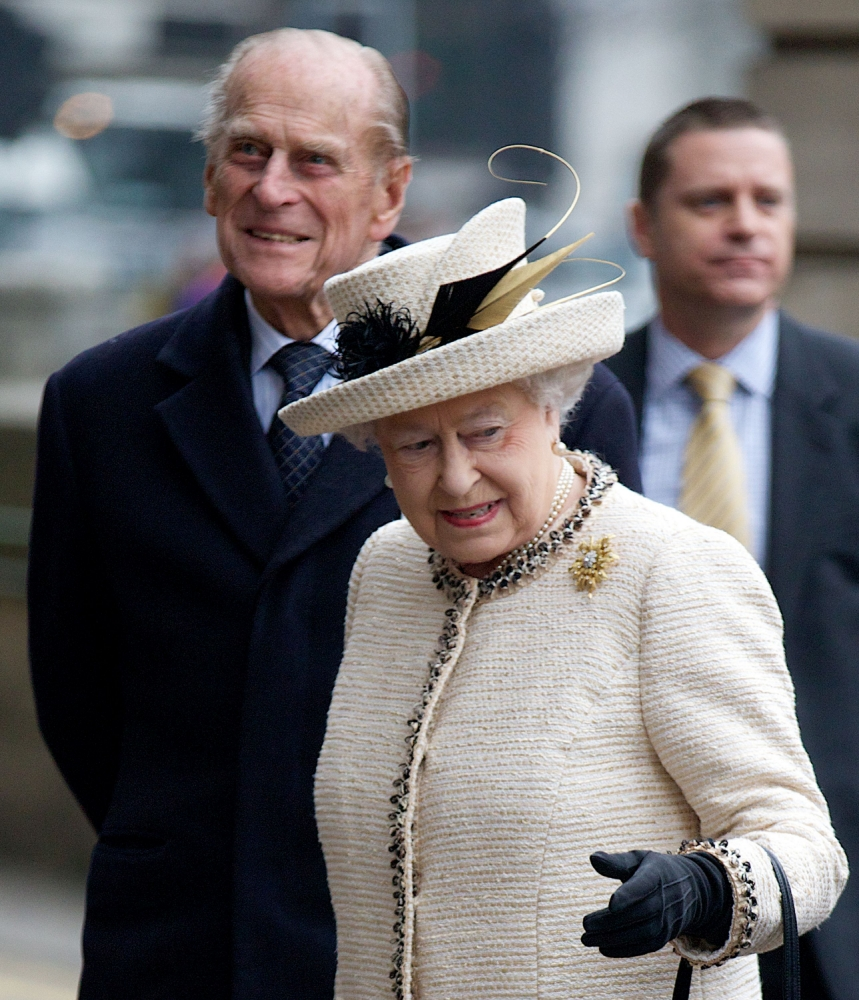 Britain's Queen Elizabeth II and Prince Philip, the Duke of Edinburgh, arrive at Bakerloo tube station in central London on March 20, 2013 as the monarch attends her first public engagement for more than a week. The 86-year-old had to cancel a number of events last week as she was still recovering from a bout of gastroenteritis which saw her admitted to hospital on March 3 for the first time in ten years. AFP PHOTO / ANDREW COWIEANDREW COWIE/AFP/Getty Images