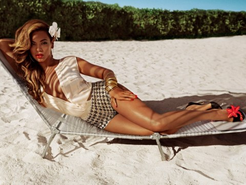 Beyonce pouts on a sunlounger as she's announced as new face of H&M
