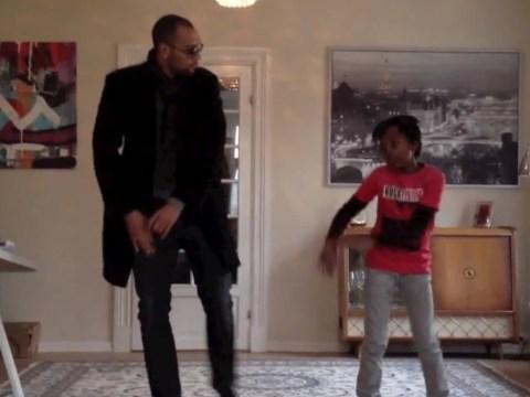 VIDEO: Former Aston Villa striker John Carew and son dance-off Azonto style