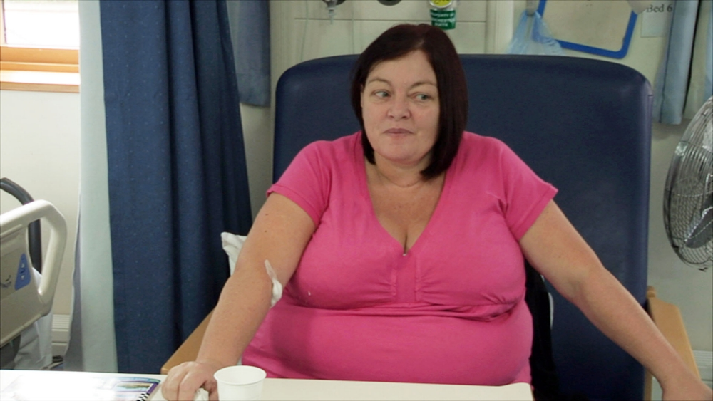 Bariatric surgery patient Lynn Huartson in Keeping Britain Alive: The NHS In One Day (Picture: The Garden Productions)
