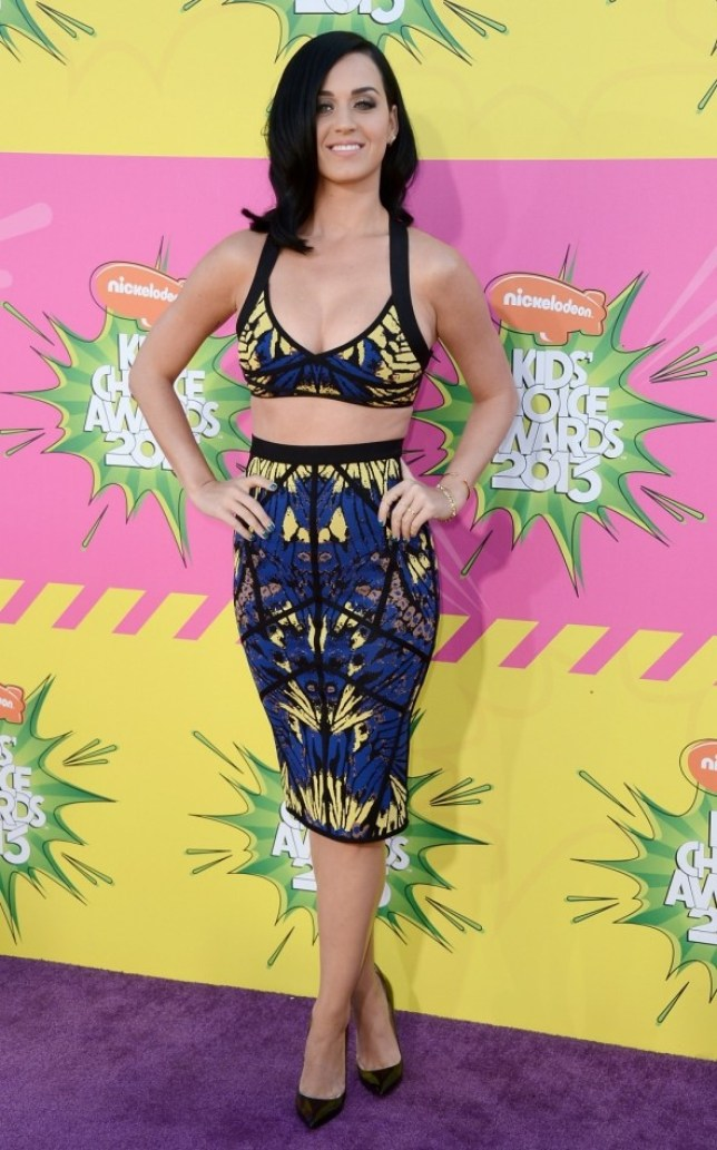 Katy Perry arrives at Nickelodeon's 26th Annual Kids' Choice Awards (Getty)