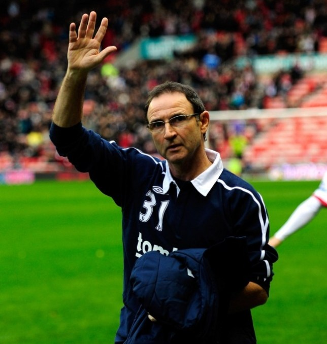 (FILE PHOTO): A statement released tonight by Sunderland informs Martin O'Neill has parted company with the club.  SUNDERLAND, ENGLAND - DECEMBER 11:  New Sunderland manager Martin O' Neill waves to the fans before the Barclays premier league game between Sunderland and Blackburn Rovers at Stadium of Light on December 11, 2011 in Sunderland, England.  (Photo by Stu Forster/Getty Images)