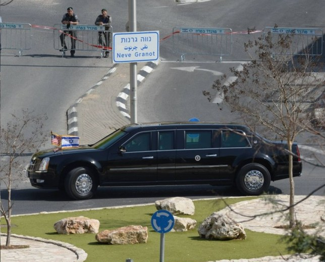 Barack Obama's 'The Beast' limo in Israel