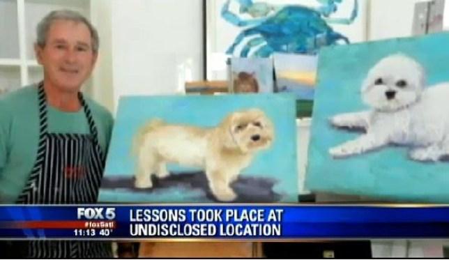 George W. Bush, painting