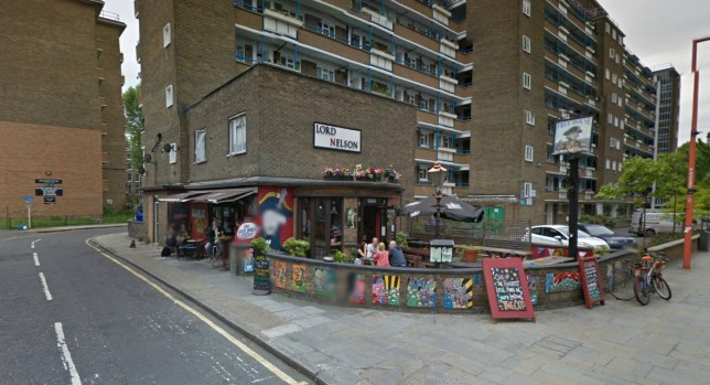 The Lord Nelson pub, horse meat burgers