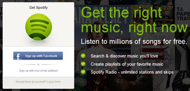 Spotify in browser