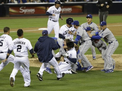 Los Angeles Dodgers star has collarbone smashed by old rival during ugly brawl