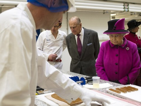 Prince Philip makes stripping gag during trip to Mars factory with the Queen
