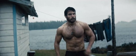 Henry Cavill showing us what to expect from The Man Of Steel (Picture: Ruckas Pictures)