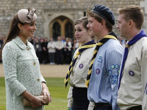 Gallery: Pregnant Kate Middleton inspects the scouts at Windsor Castle