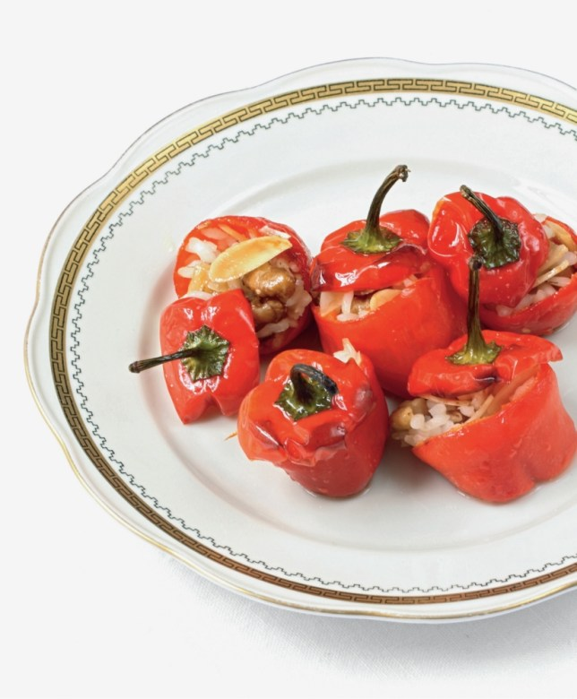 Alexis Gauthier's red pepper with anchovies, almond, thyme and rice (Picture: File)
