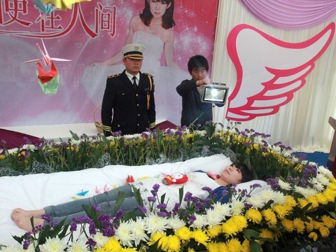 Chinese student staged her own funeral because she wanted to 'enjoy it'