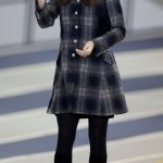 The Duchess of Cambridge during her visit to the Emirates Arena in Glasgow, Scotland. PRESS ASSOCIATION Photo. Picture date: Thursday April 4, 2013.  The Emirates Arena will play host to several events at the 2014 Glasgow Commonwealth Games. The Duke and Duchess toured the Arena, including the Sir Chris Hoy Velodrome, where they watched riders in a practice session. See PA story ROYAL Cambridge. Photo credit should read: Danny Lawson/PA Wire