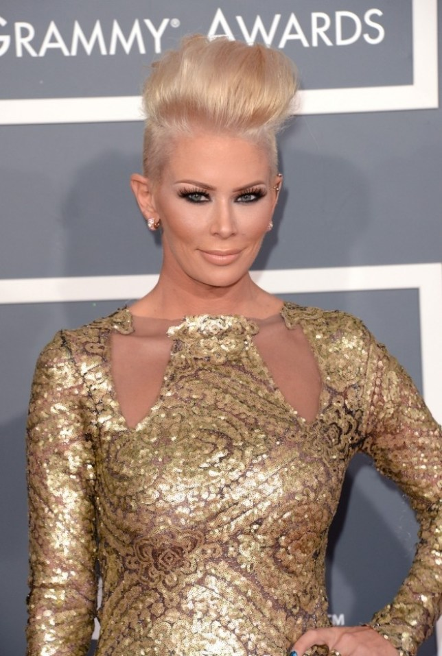 FILE ñ APRIL 7, 2013:  According to reports, former adult actress Jenna Jameson was arrested  for battery on April 6, 2013 in Newport Beach, California. LOS ANGELES, CA - FEBRUARY 10:  Actress Jenna Jameson arrives at the 55th Annual GRAMMY Awards at Staples Center on February 10, 2013 in Los Angeles, California.  (Photo by Jason Merritt/Getty Images)
