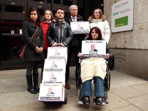 Petition with 462,000 signatures urging Iain Duncan Smith to go through with £53-a-week boast delivered