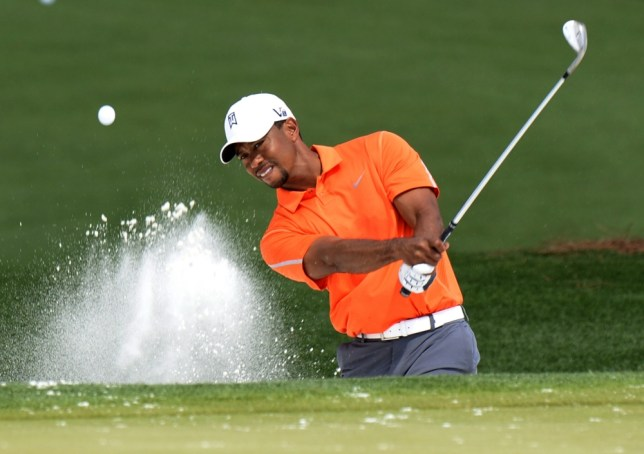 Tiger Woods of the US during a practice round at the 77th Masters golf tournament at Augusta National Golf Club on April 8, 2013 in Augusta, Georgia.     AFP PHOTO / DON EMMERTDON EMMERT/AFP/Getty Images