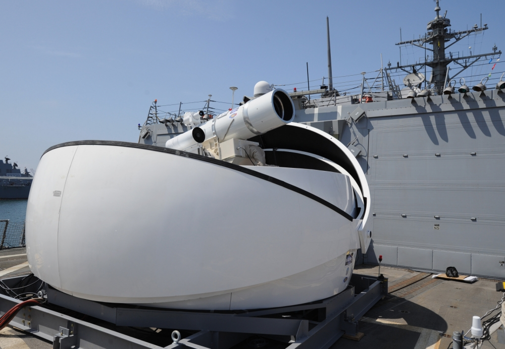 US Navy's new toy – a £21million laser cannon which hates fog