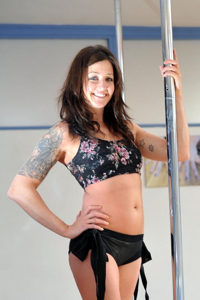 Pole dancer Emma Nicholson