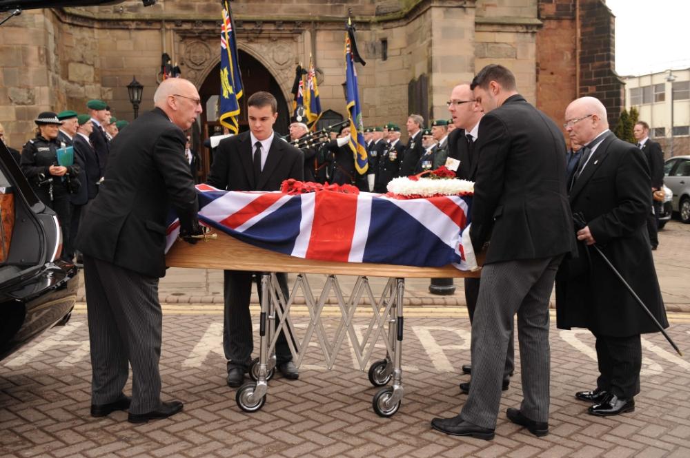 World War II veteran Albert Vaughan, funeral