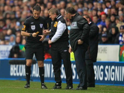 Referee Mark Clattenburg forgets cards for second half of Reading v Liverpool match