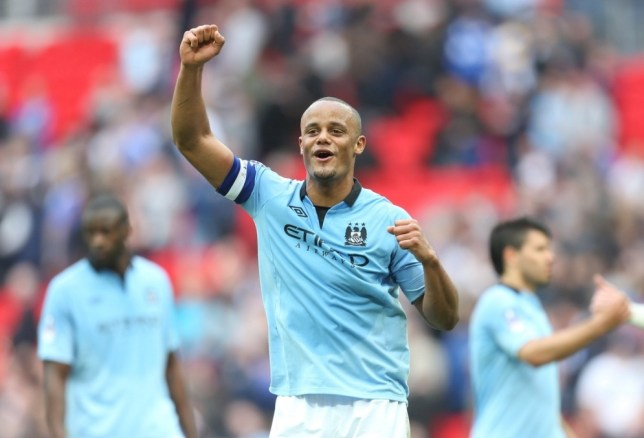 Football - Chelsea v Manchester City - FA Cup Semi Final - Wembley Stadium - 14/4/13  Manchester City's Vincent Kompany celebrates at the end of the match   Mandatory Credit: Action Images / Carl Recine  Livepic