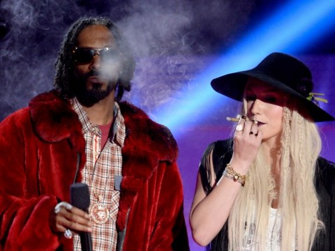 Ke$ha and Snoop Lion bring their own fun to the MTV Movie Awards as they smoke 'joint' on stage