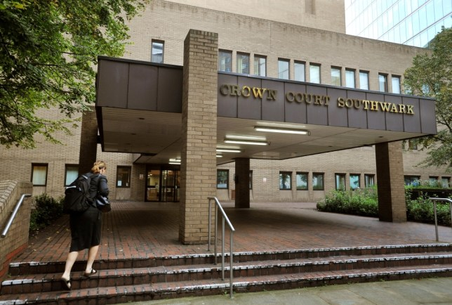 A general view of the front entrance to Southwark Crown Court in Battlebridge Lane in Southwark, south London.