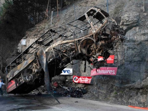 Gallery: Driver killed in French Alps ski coach crash
