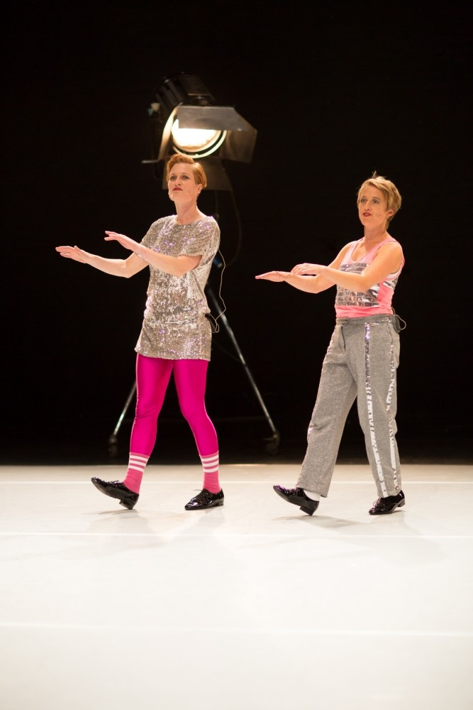 Hanna Gillgren and Heidi Rustgaard aka h2dance perform in Place Prize 2013 (Picture: 2013)