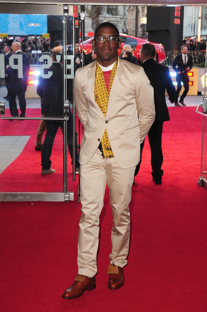 Labrinth arriving for the premiere of Iron Man 3 at the Odeon Leicester Square, London. PRESS ASSOCIATION Photo. Picture date: Thursday April 18, 2013. See PA story SHOWBIZ IronMan. Photo credit should read: Ian West/PA Wire