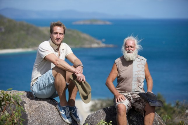 Ben Fogle with 'Dave-o' Glasheen, who lives on an isolated island (Picture: Channel 5)