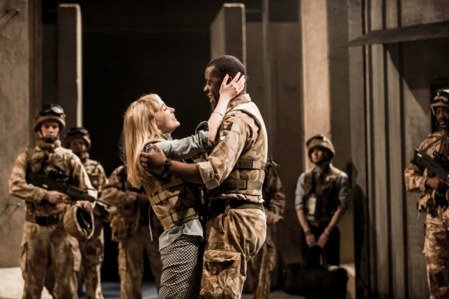 Olivia Vinall and Adrian Lester in Othello at the National Theatre (Picture: Johan Persson)