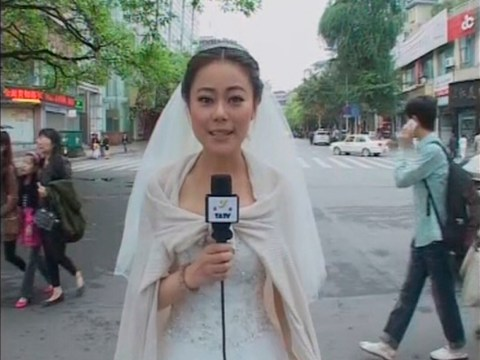 Bride leaves wedding to report on earthquake in China