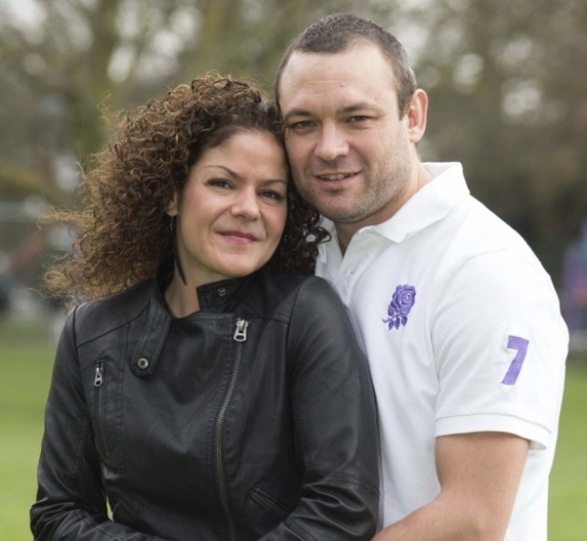 Joy: Rebecca Church and fiancé Gavin Smith whose romance was played out in the paper Picture: Gretel Ensignia)