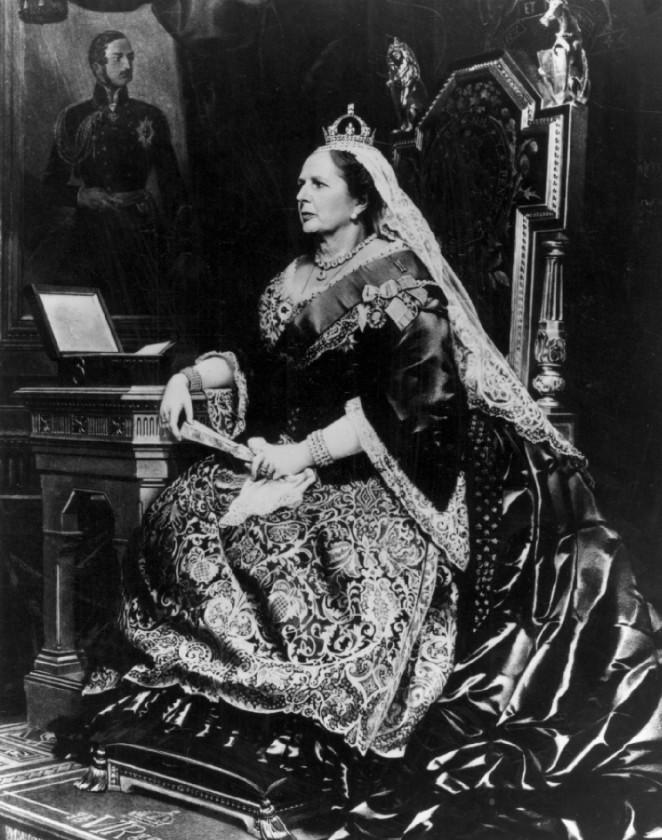 Margaret Thatcher as Queen Victoria