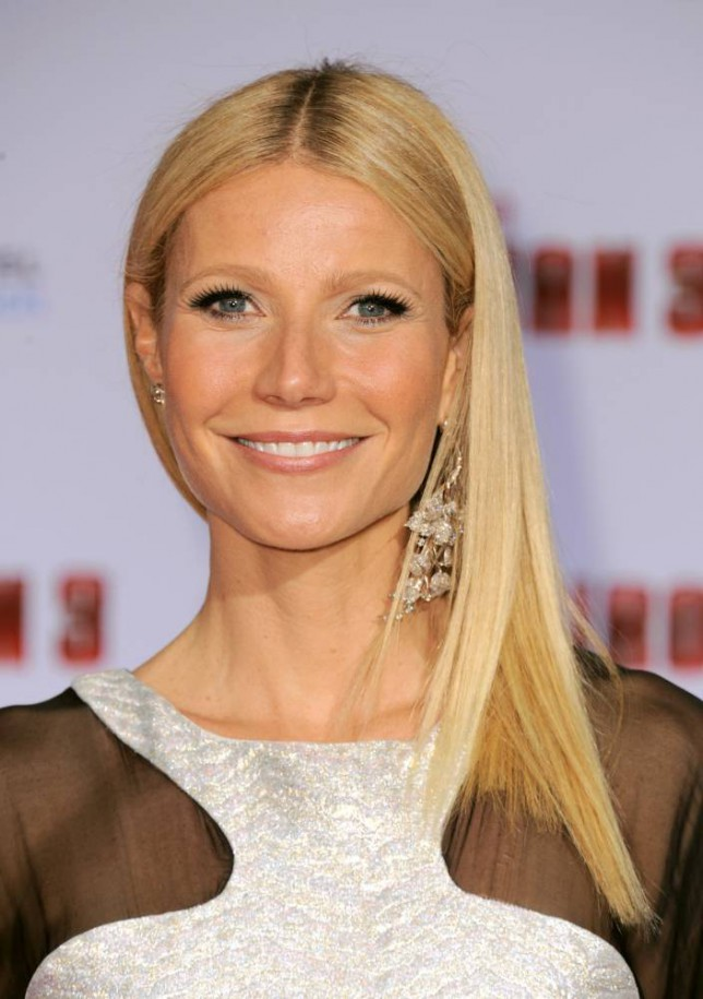 """Actress Gwyneth Paltrow arrives at the world premiere of """"Marvel's Iron Man 3"""" at the El Capitan Theatre on Wednesday, April 24, 2013, in Los Angeles, Calif. (Photo by Jordan Strauss/Invision/AP)"""