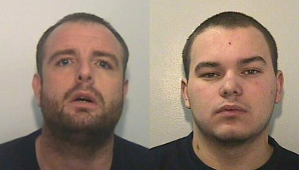 Stevie McMullen, 31 (left) and Ryan MacDonald, 20, (right) are on the run after being sprung from a prison van in Salford