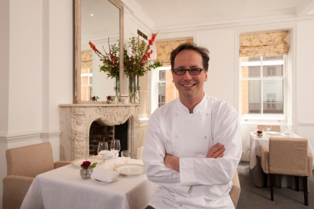 Charismatic chef Alexis Gauthier at his London restaurant (Picture: Gauthier Soho)